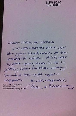 Barry OFarrell Resigns Due To This Note