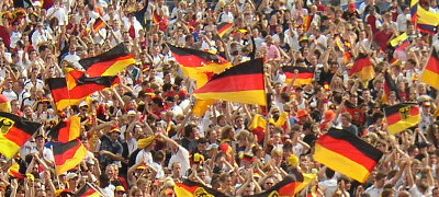 Germany Celebrates After That Big Win