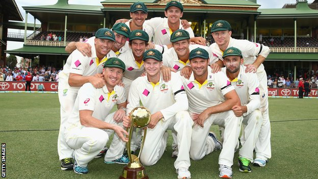 80177029 Australia With Trophy Getty