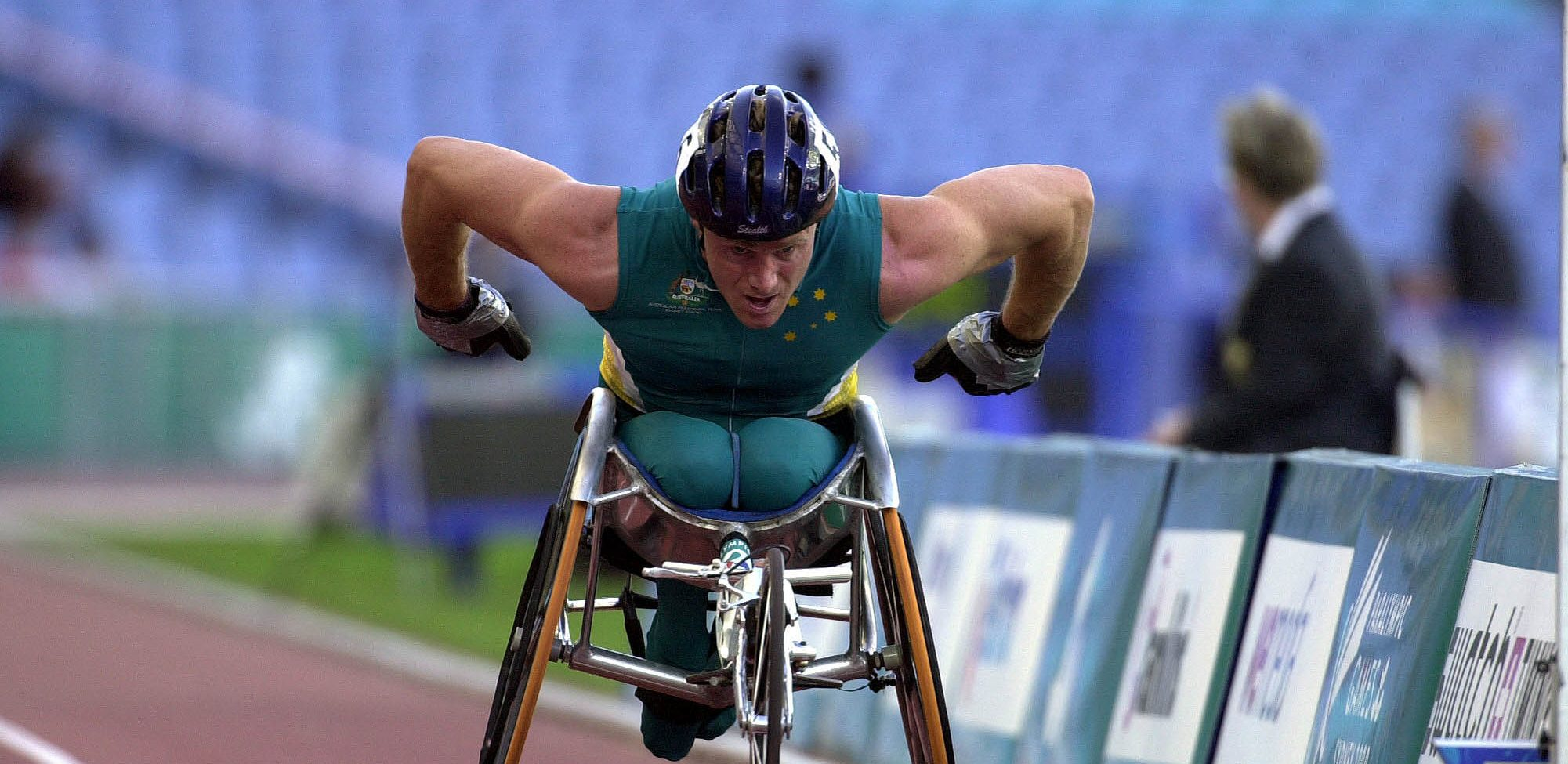 231000   Athletics Wheelchair Racing 10km Final John Maclean Action 2   3b   2000 Sydney Race Photo E1549342818807